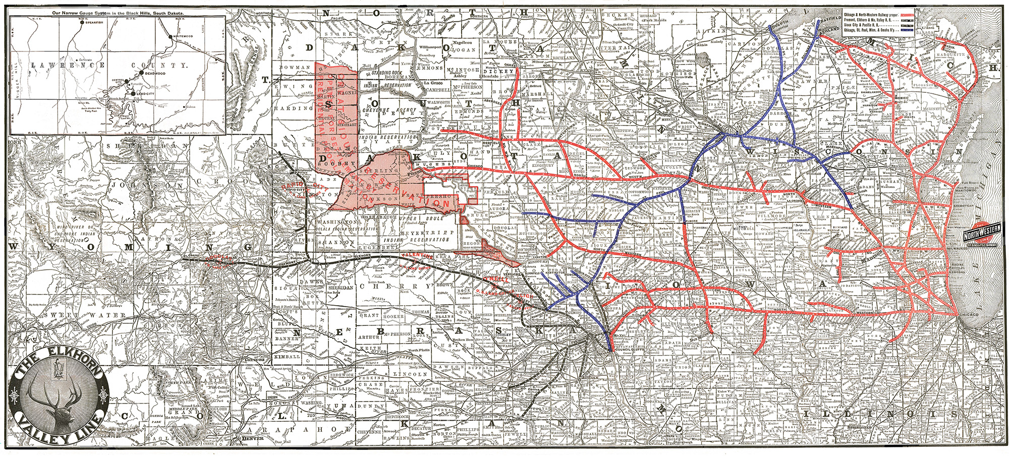 Chicago North Western Historical Society Maps - Map of us railroads in 1900